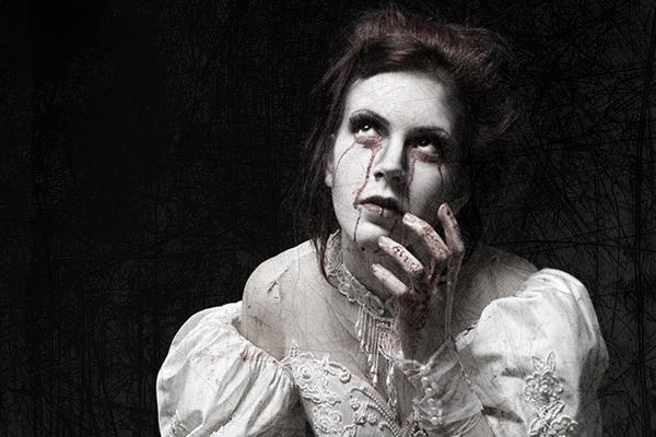 страшная невеста в крови