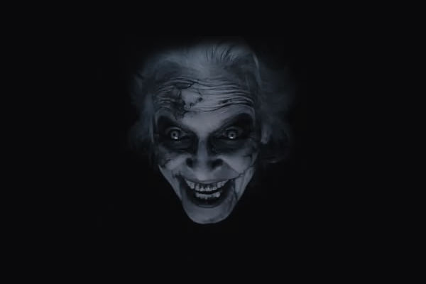 страшная ведьма в чёрном