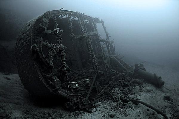 затонувший корабль